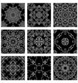 ornam set black 380 vector image