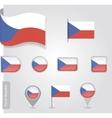 Czech Republic flag icon vector image