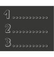 1 2 3 points on dark chalkboard vector image