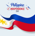 3d realistic philippines flag waving wind vector image vector image