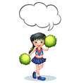 A cheerleader with an empty callout vector image vector image