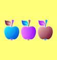 Abstract apple vector image vector image