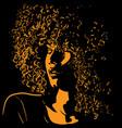african pretty woman portrait silhouette vector image