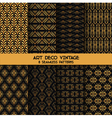 Art Deco Vintage Patterns - 8 Seamless Backgrounds vector image vector image