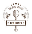 bee honey premium quality packaging label with vector image vector image