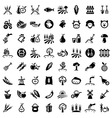 Big agriculture icons set vector