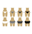 Bikini bottom design vector image
