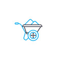 building trolley thin line stroke icon vector image