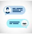 chatbot robot concept dialog help service user vector image vector image