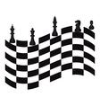chessmen vector image