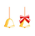 christmas bell isolated on a white background vector image