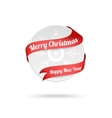 Christmas medal with red ribbon isolated on white vector image vector image