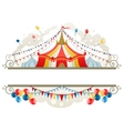 Circus tent frame vector image