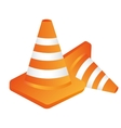 cones construction isolated flat design vector image vector image