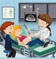 couple meet doctor for ultrasound vector image