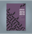 cover annual report 870 vector image