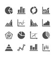 diagram and chart icon set vector image vector image