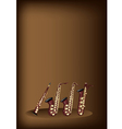 Different Kind of Saxophone on Brown Background vector image vector image