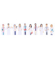 doctors male and female characters vector image vector image