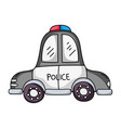 emergency police car transport with siren vector image vector image