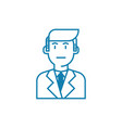 employee linear icon concept employee line vector image
