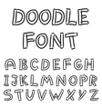 English alphabet in doodle style vector image vector image