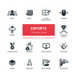Esports - modern simple thin line design icons