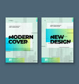 green brochure design cover template for brochure vector image