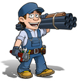 Handyman Plumber Blue vector image vector image