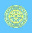 hawaiian sun sign in polynesian style with rays vector image vector image