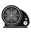 heat fan icon simple style vector image