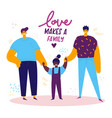 homosexual male lgbt family vector image vector image