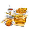 hot tea with honey vector image vector image