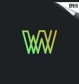 initial vw logo monogram design template simple vector image vector image