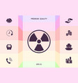 ionizing radiation icon graphic elements for vector image