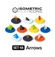 Isometric flat icons set 48 vector image vector image