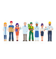 labor day group people different vector image