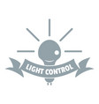 light control logo simple gray style vector image vector image