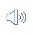 loud speaker with sound waves icon for volume vector image