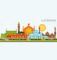 lucknow india city skyline with gray buildings vector image vector image