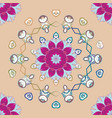 nature seamless pattern with abstract ornament vector image