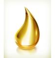 Oil drop icon vector image vector image