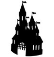 old castle silhouette vector image