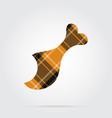orange black tartan icon - gnawed chicken leg vector image vector image