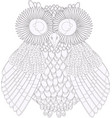 owl coloring black and white vector image vector image