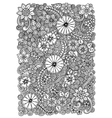 Pattern with flowers Ornate zentangle texture vector image vector image