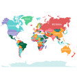 polical map world vector image