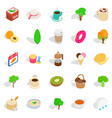 property icons set isometric style vector image vector image