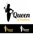 Queen of Fashion logo design vector image