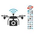Radio Camera Drone Icon With Free Bonus vector image vector image